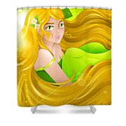 Miss Spring-breeze Shower Curtain