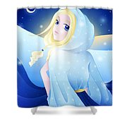 Miss Winter-night Shower Curtain