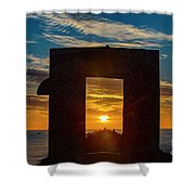 Mission Beach 2 Shower Curtain