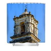 Mission Bell Tower Shower Curtain