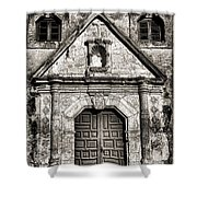 Mission Concepcion - Bw Toned Border Shower Curtain