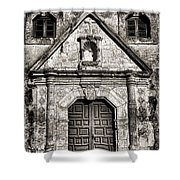 Mission Concepcion Front - Toned Bw Shower Curtain