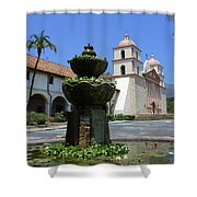 Mission Fountain Shower Curtain