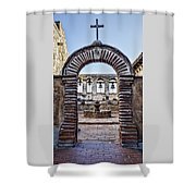 Mission Gate And Bells Shower Curtain