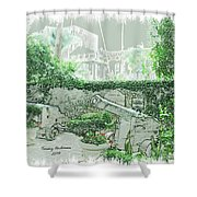 Mission Inn Cannons Shower Curtain