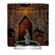 Mission Inn Chapel Fountain Shower Curtain