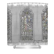 Mission Inn Chapel Stained Glass Shower Curtain