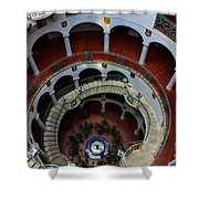 Mission Inn Circular Stairway Shower Curtain