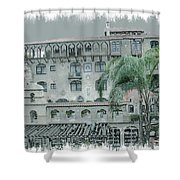 Mission Inn Court Yard Shower Curtain