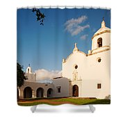 Mission Nuestra Senora Del Espiritu Santo De Zuniga At Sunset - Goliad Coastal Bend Texas Shower Curtain