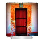 Mission Red Door Shower Curtain