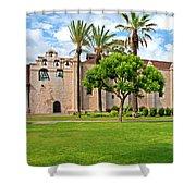 Mission San Gabriel Arcangel, San Gabriel, California Shower Curtain