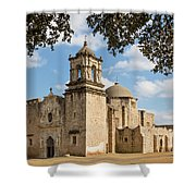 Mission San Jose Shower Curtain by Mary Jo Allen