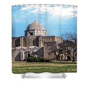 Mission San Jose Panorama Shower Curtain