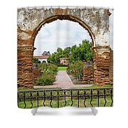 Mission San Luis Rey Carriage Arch Shower Curtain