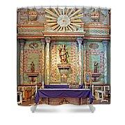 Mission San Miguel Arcangel Altar, San Miguel, California Shower Curtain