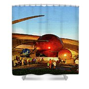 Mission Space Shower Curtain