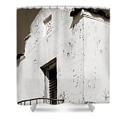 Mission Stucco Building Shower Curtain