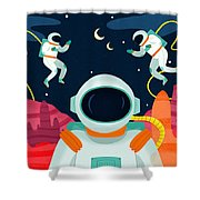 Mission To Mars Shower Curtain