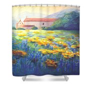 Mission Wildflowers Shower Curtain