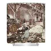 Mississippi Cotton Gin At Dahomey Shower Curtain