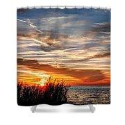 Mississippi Gulf Coast Sunset Shower Curtain