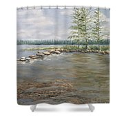 Mississippi Headwaters 2  Shower Curtain
