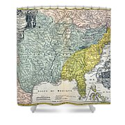 Mississippi Region, 1687 Shower Curtain