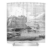 Mississippi River, 1854 Shower Curtain