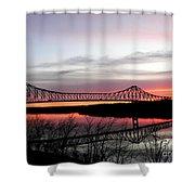 Mississippi River At Savanna Shower Curtain