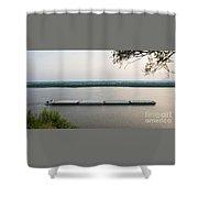 Mississippi River Barge Shower Curtain