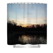 Mississippi River Colorful Dawn Clouds Shower Curtain