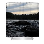 Mississippi River Dawn Sky Shower Curtain