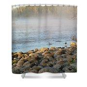 Mississippi River Duck Duck Dawn Shower Curtain