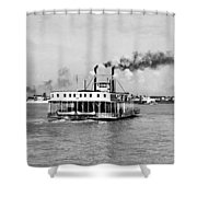 Mississippi River Ferry Boat Shower Curtain