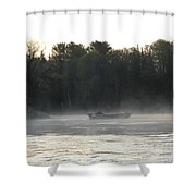 Mississippi River Fisherman At Dawn Shower Curtain