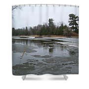 Mississippi River Ice Flow Shower Curtain