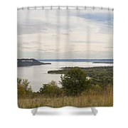 Mississippi River Lake Pepin 10 Shower Curtain