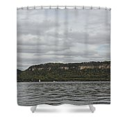 Mississippi River Lake Pepin 6 Shower Curtain