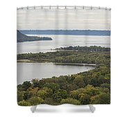 Mississippi River Lake Pepin 7 Shower Curtain
