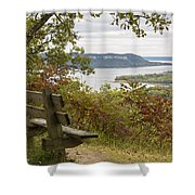 Mississippi River Lake Pepin 8 Shower Curtain