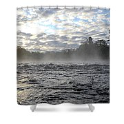Mississippi River Mist Over Rushing Water Shower Curtain