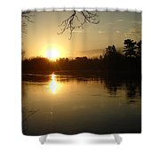 Mississippi River Perfect Sunrise Shower Curtain