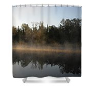 Mississippi River Smooth Reflection Shower Curtain