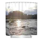 Mississippi River Victory At Sea Shower Curtain