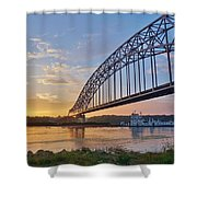 Mississippi Sunrise Crossing Shower Curtain