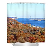 Mississippi Views From Grafton Bluffs Shower Curtain