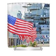 Missouri Battleship Memorial Flags Shower Curtain