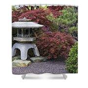 Missouri Botanical Garden A Japanese Snow Viewing Lantern Spring Time Dsc01783 Shower Curtain
