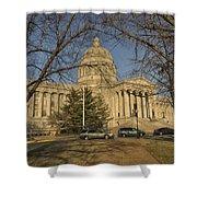Missouri Capital Building Jefferson City Dsc00653 Shower Curtain
